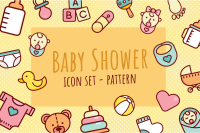 Baby Shower Icon Set