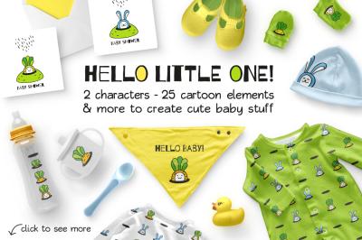 HELLO LITTLE ONE | BABY DESIGN SET