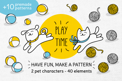 PLAY TIME | LITTLE CAT & DOG SET