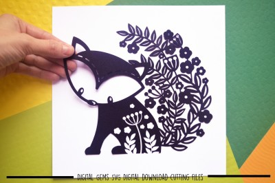 Fox Paper Cut SVG / DXF / EPS Files
