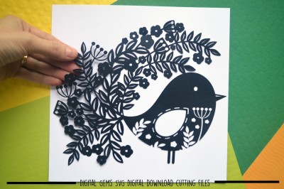 Bird Paper Cut SVG / DXF / EPS Files