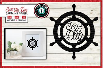 Seas the Day | Ships Wheel | SVG Cut File