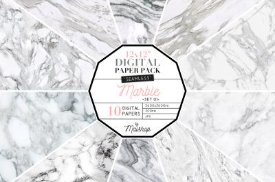 Seamless Digital Paper Pack   I   Marble