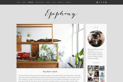 Epiphany blog template