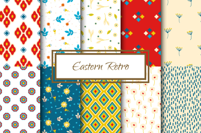Eastern Retro Floral Patterns