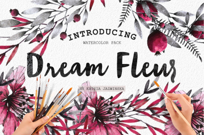 Dream Fleur Watercolor set