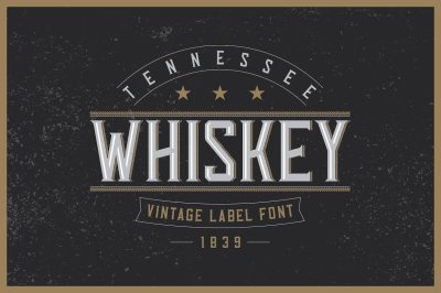 Tennessee Whiskey typeface