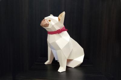 DIY French Bulldog - 3d papercraft