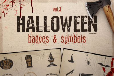 Halloween Badges / Symbols Set Vol.3