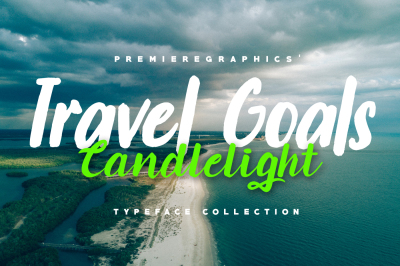 Travel Goals, Candlelight - Typeface Collection