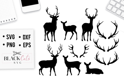 Deers set SVG