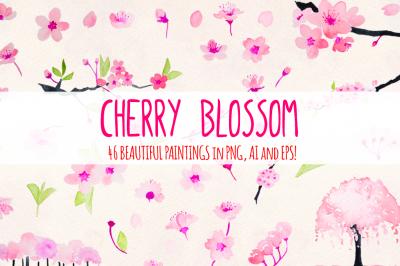 Cherry Blossoms 46 Floral Elements