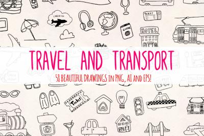 58 Travel Transport Holiday Elements