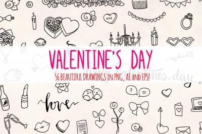 Valentine's Day 56 Sketch Graphics