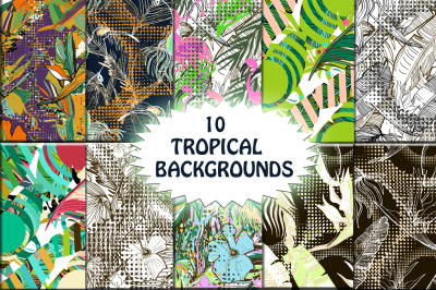 10 TROPICAL BACKGROUNDS.