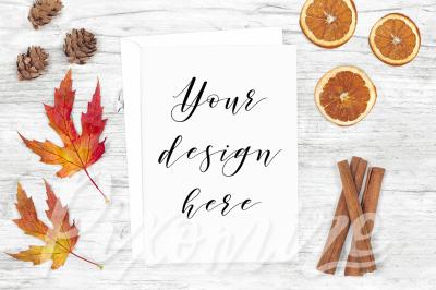 Fall Themed Card Mockup Photography