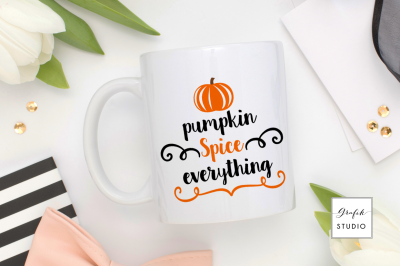 Pumpkin spice everyhting, Fall SVG File, DXF and PNG File, Fall SVG File, DXF and PNG File, Fall SVG File, DXF and PNG File