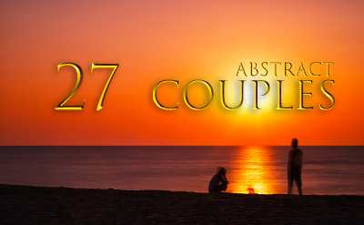 Abstract dramatic couples set