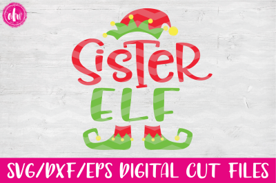 Sister Elf - SVG, DXF, EPS Cut File