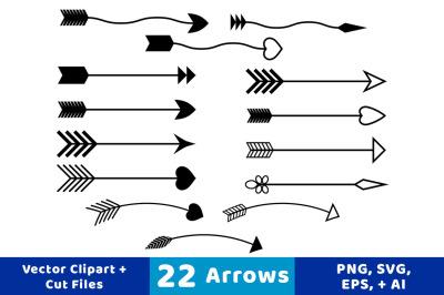 22 Arrows Clipart, Rustic Arrow Clipart, Arrow SVG, Wedding Clipart,  Arrow Graphics