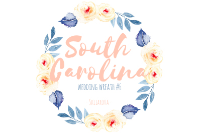 South Carolina. Wreath #6