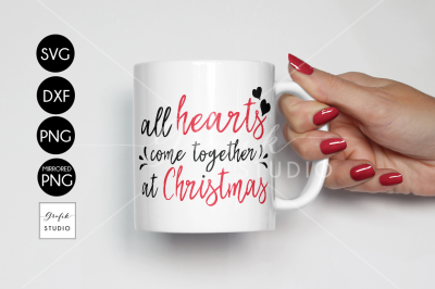 All hearts come together at Christmas holiday SVG File, SVG CUT files, CUT  File for Cricut