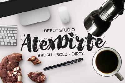 AlexDirte Brush Font