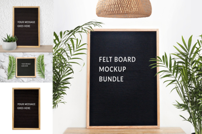 Felt board mockup bundle