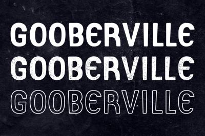 Gooberville Typeface