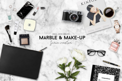 Marble & Make up scene creator plus free images