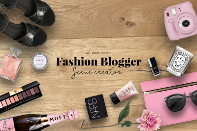 Fashion Blogger scene creator plus free images
