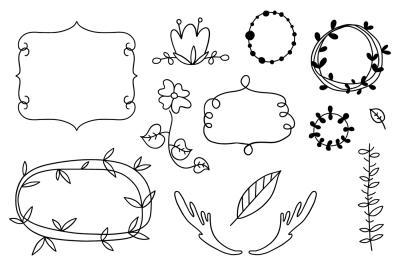 Autumn doodle & lettering kit.