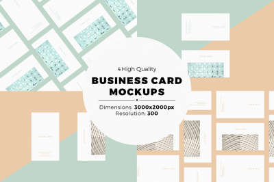 Business Card MockUps With Editable Templates