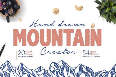 Hand Drawn Mountain Creator Kit