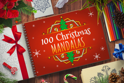 100 Christmas Mandala Ornaments