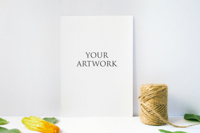 A4 Paper Front View Mockup 10020