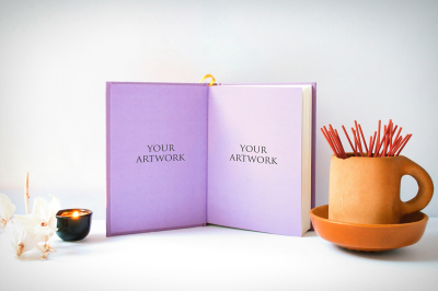 A5 Notebook Front View Mockup 10019