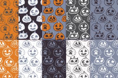 Halloween Pumpkins Pattern Pack