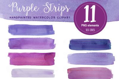 Purple Watercolour Stripes