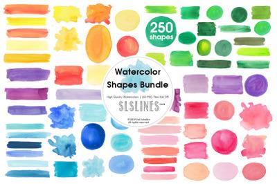 Watercolor Shape Bundle Multicolors
