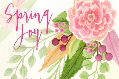 Spring Joy Watercolor Flowers