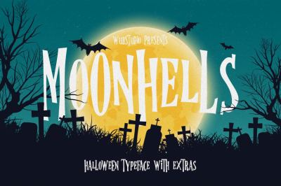 Moonhells Typeface + Extras