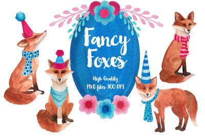 Fancy Foxes Watercolors