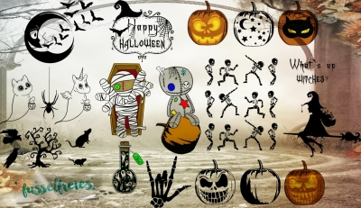 Spooky Halloween Vol2 SVG DXF PNG Cutting Files (30 Designs)