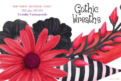 Gothic Floral Wreaths