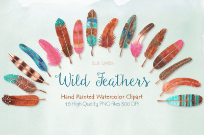 Feather Watercolor Clipart