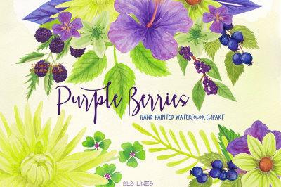 Purple Berries & Flowers