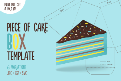 Printable Box Template - Cake Slice