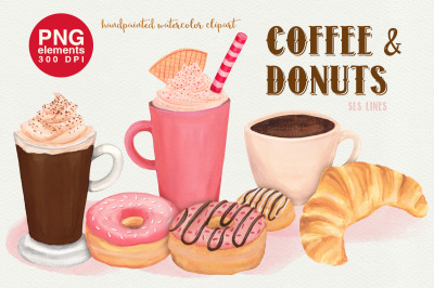 Coffee & Donuts Bakery Clipart