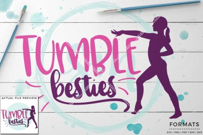 Tumble Bestie SVG - Small Commercial Use SVG & Instant Download